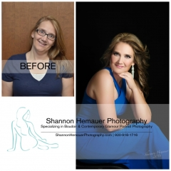 Boudoir and contemporary glamour portrait photography Shannon Hemauer Gettysburg PA