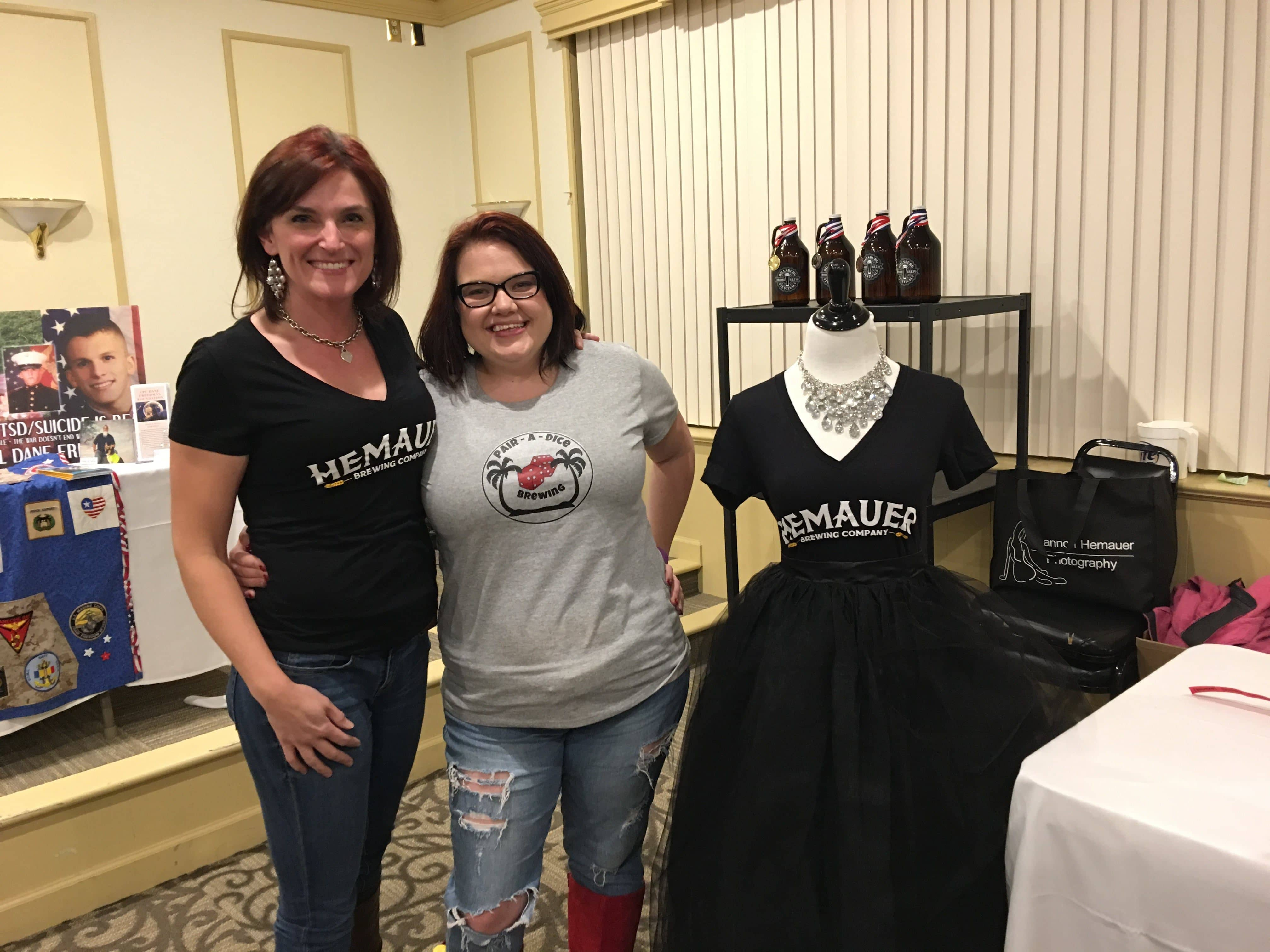 Shannon Hemauer meeting Tessa M for the first time at the Dillsburg Home Brewfest November 2016